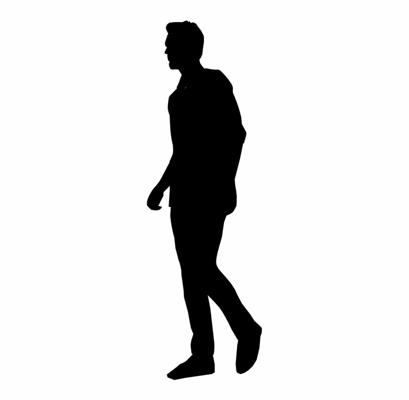 Man Silhouette PNG HD Quality.