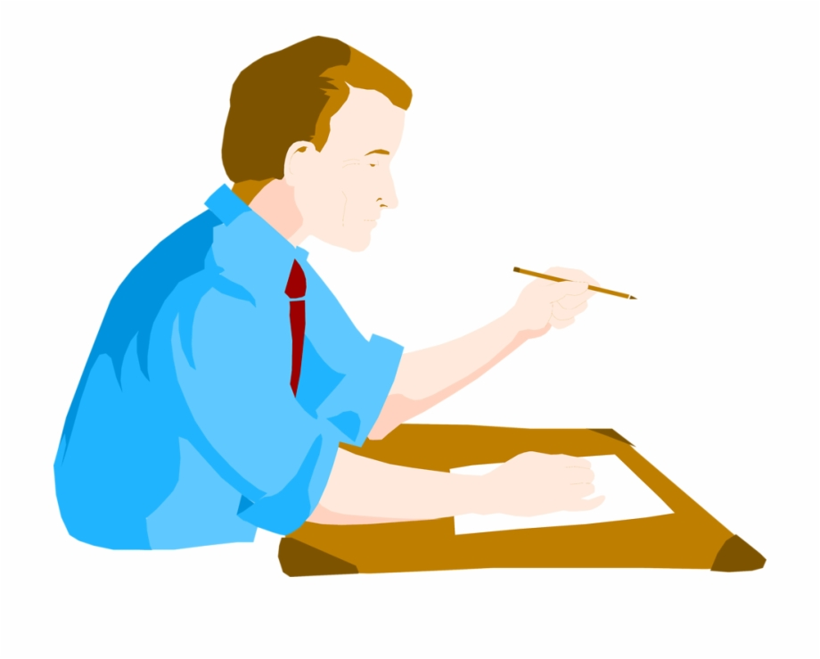 Desk Clipart Man.