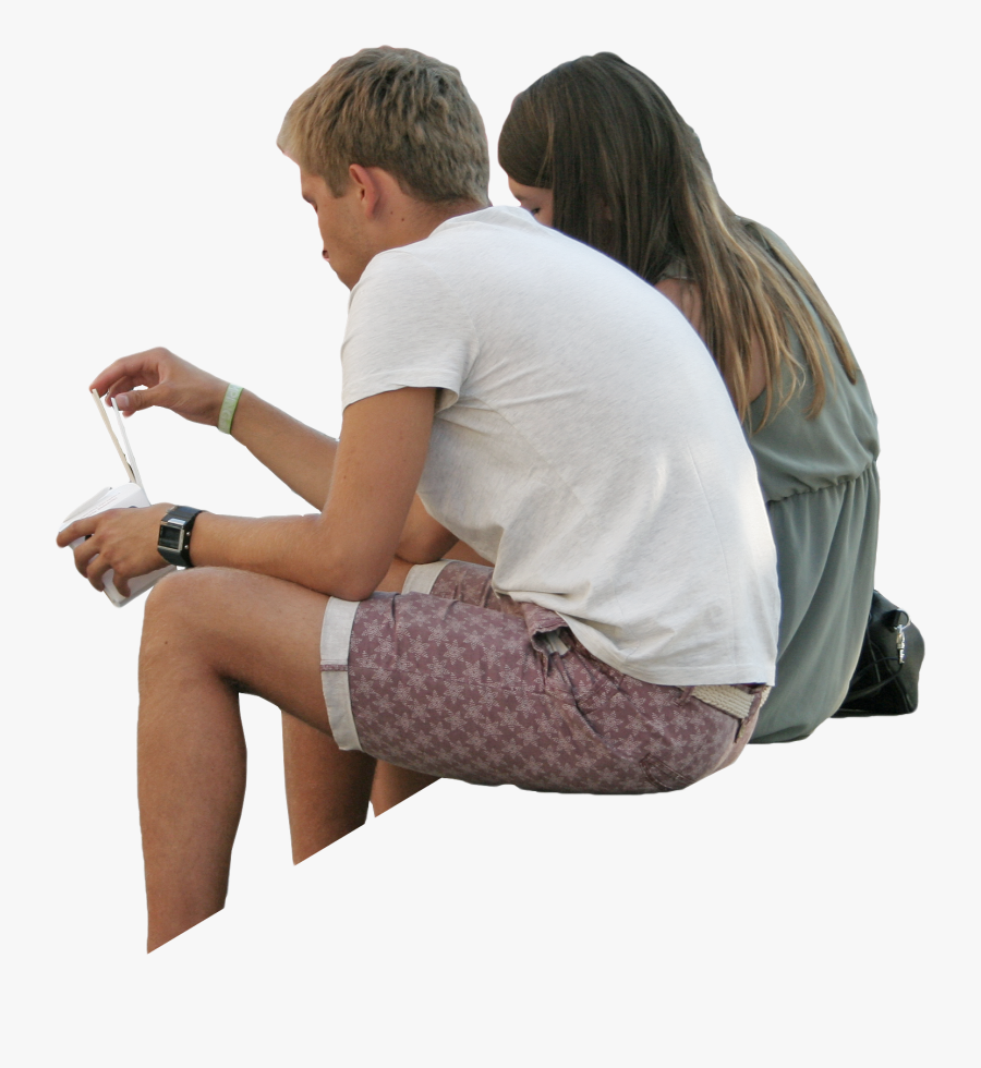 Sitting People Png.
