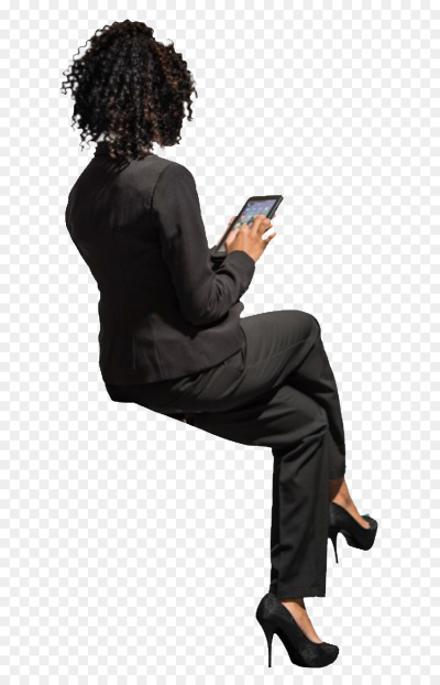 Person sitting back png AbeonCliparts.