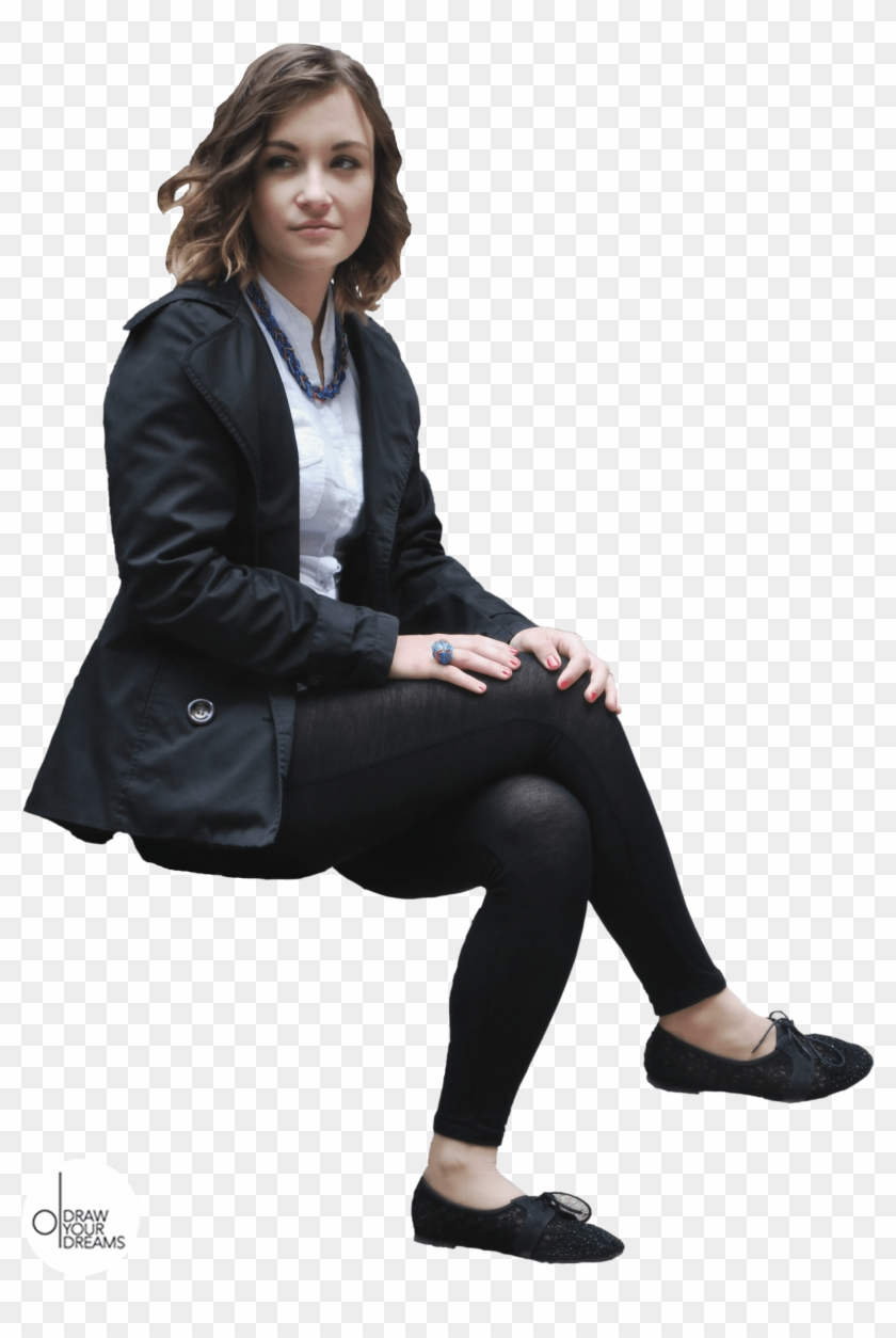 Photoshop Cut Out Person Sitting Png.