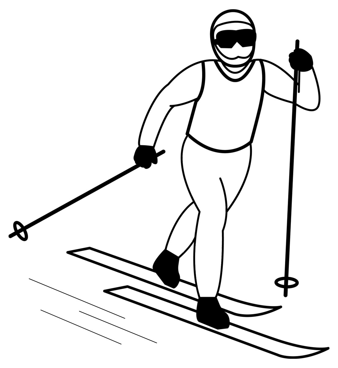 Skis clipart skiing person, Skis skiing person Transparent.