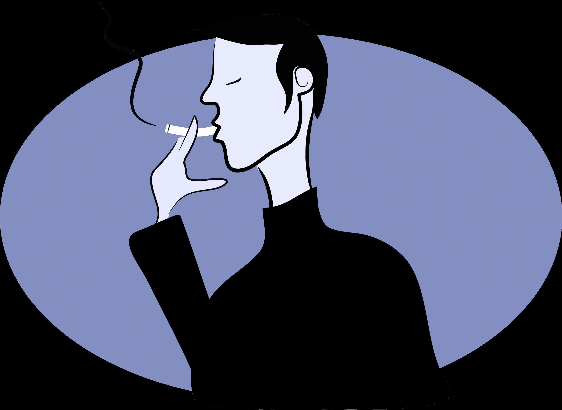 Man Smoking Cliparts.