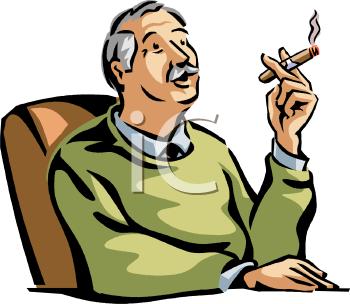 Clip Art Of Someone Smoking.