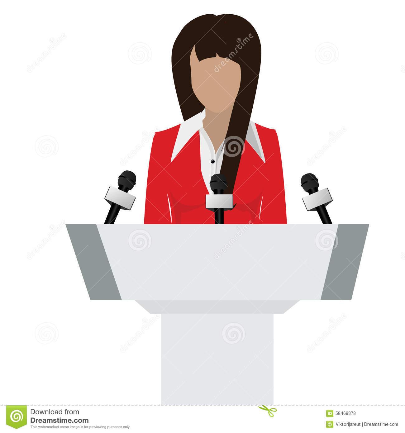 Speaker Person Stock Illustration.