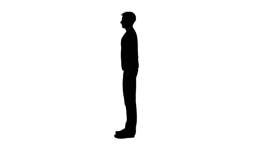 Man Standing Silhouette.