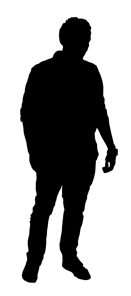 10 Man Standing Silhouette (PNG Transparent).