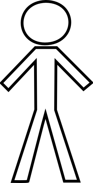 Stick person free stick figure clip art pictures.