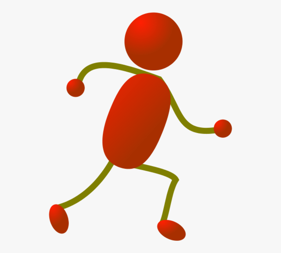 Running Stick Figure Clipart.