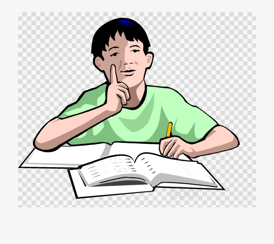 Download Person Studying Transparent Clipart Study.