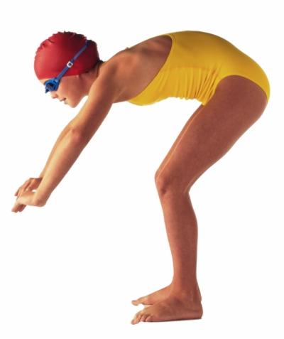 person swimming.