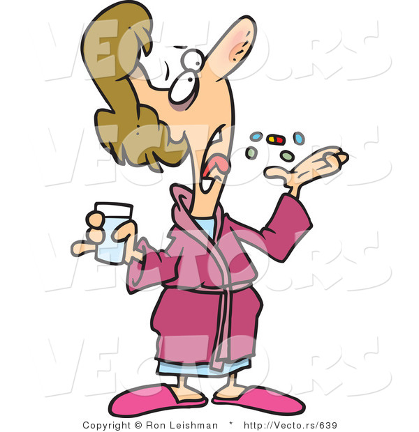 Person Taking Medicine Clipart.