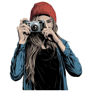 Woman Taking Picture clipart, cliparts of Woman Taking.