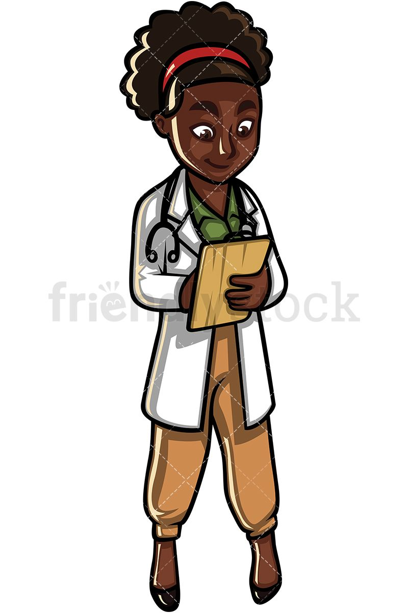 Black Female Doctor.