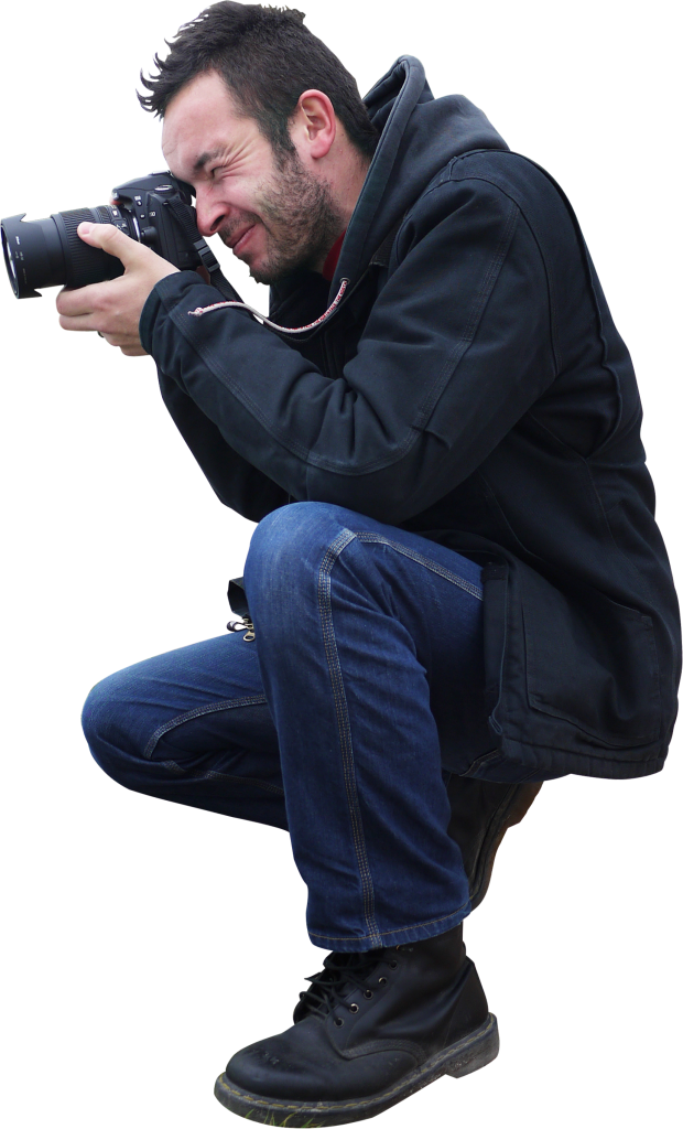 Camera Sitting PNG Image.