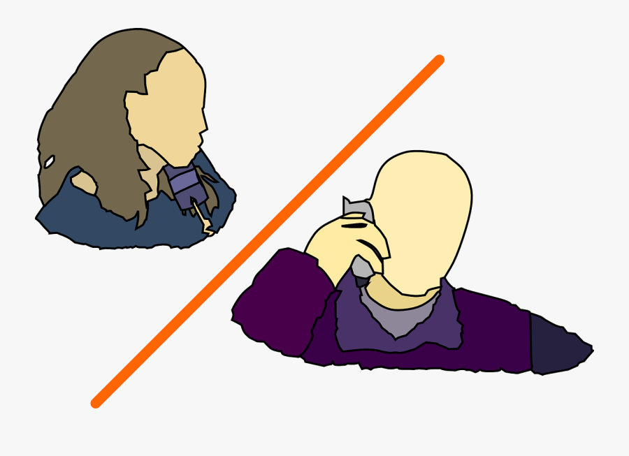 Two People Talking On The Phone Clipart , Free Transparent.