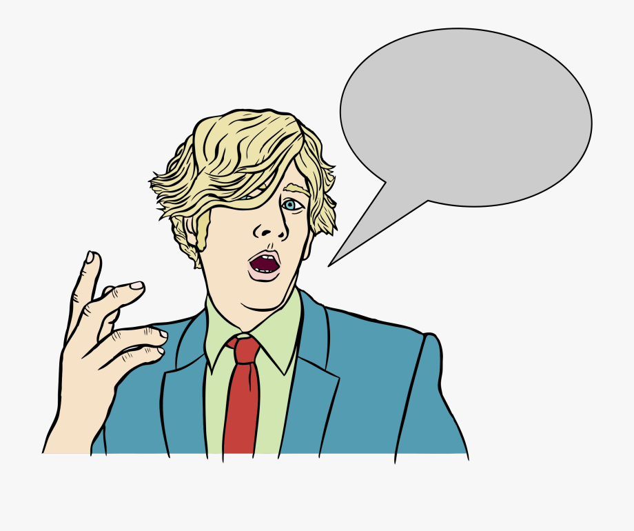 Person Talking With Speech Bubble Clipart.
