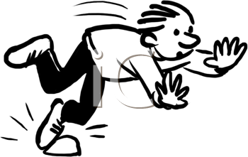 Royalty Free Clipart Image of a Person Tripping #418046.
