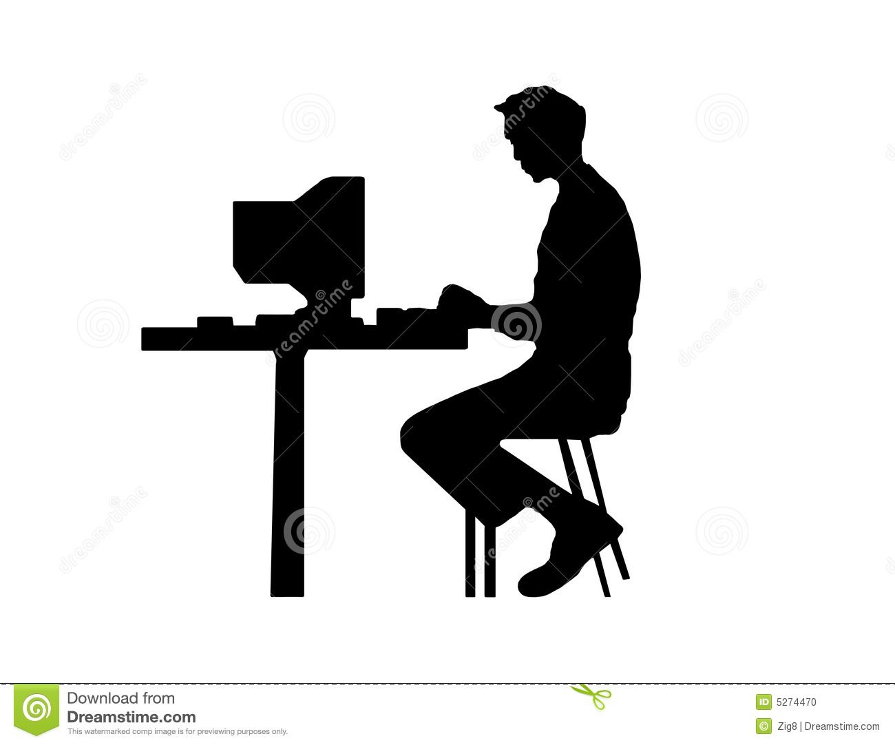 Pics For > Person Typing On A Computer Clipart.