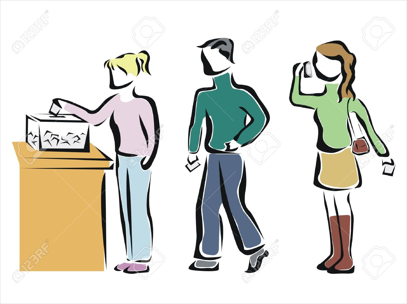 People Voting In An Elections Royalty Free Cliparts, Vectors, And.