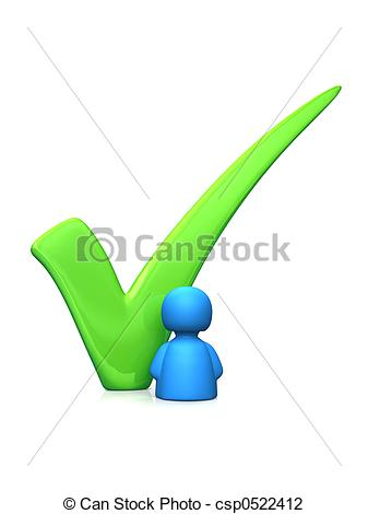 Clip Art of Vote for me.
