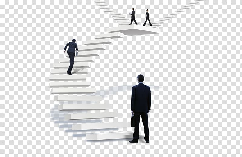 Man standing on white stairs illustration, Stairs.