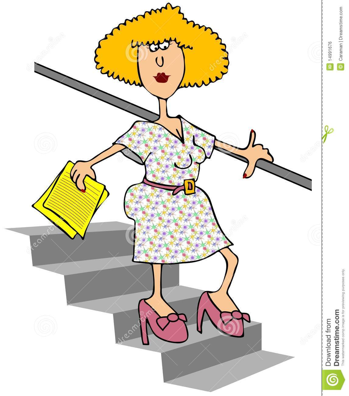 Walking Down Stairs Clipart.