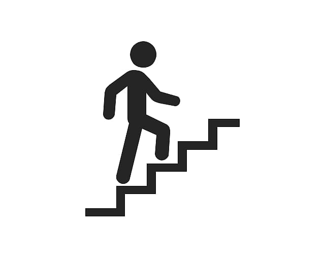 Walking up on stairs , Stairs Stair climbing , Someone.