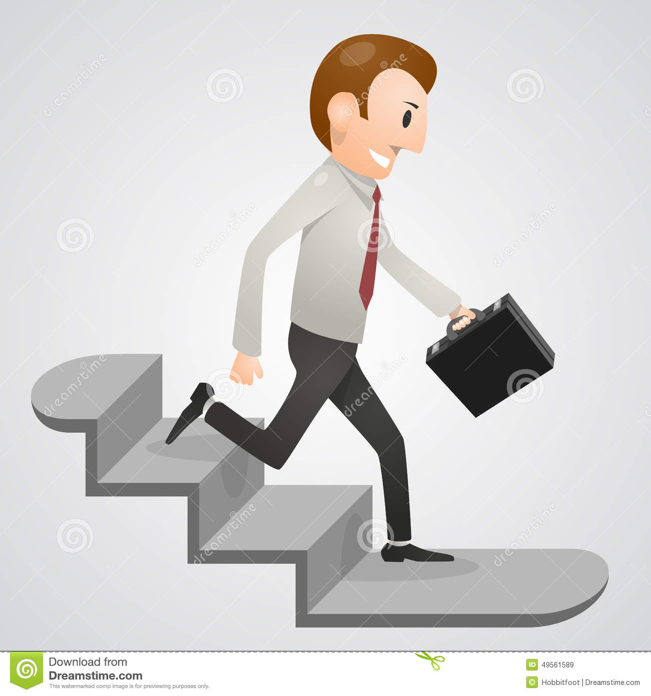 Running Down Stairs Clipart.