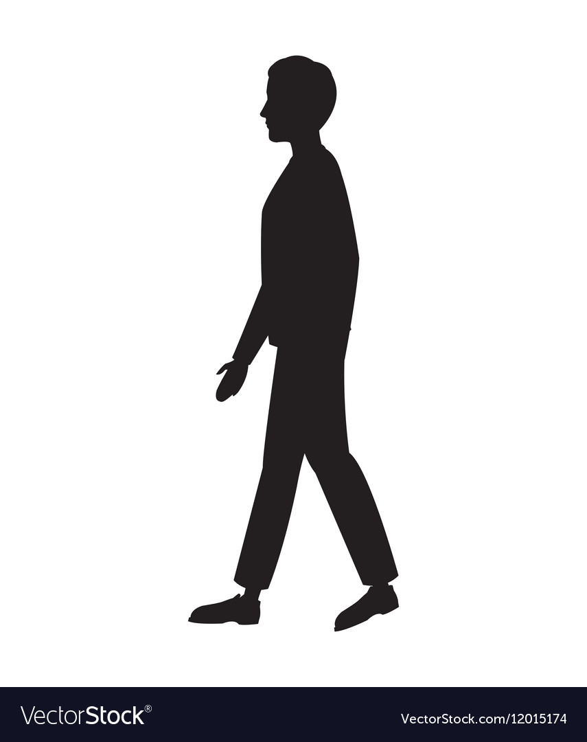 Silhouette Person Side View.