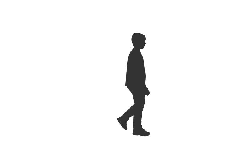 Silhouette Walking Side.