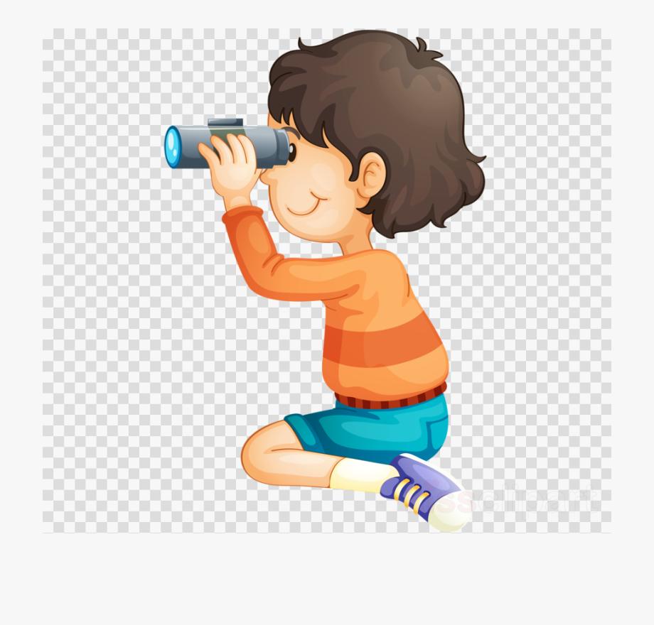 Download Boy With Binoculars Clipart Clip Art.