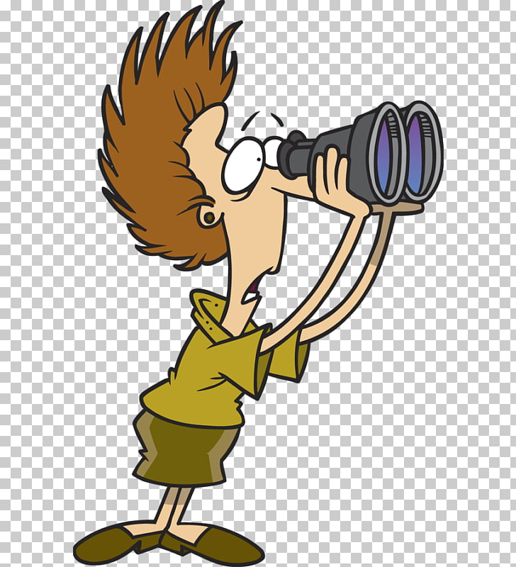 Graphics Cartoon Drawing , person with binoculars PNG.