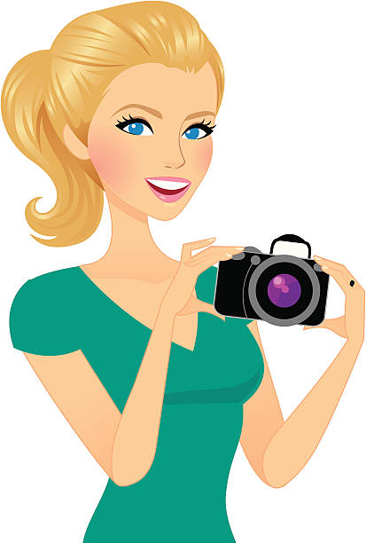 Person Holding Camera Clipart.