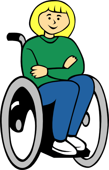 Person with disability clipart.