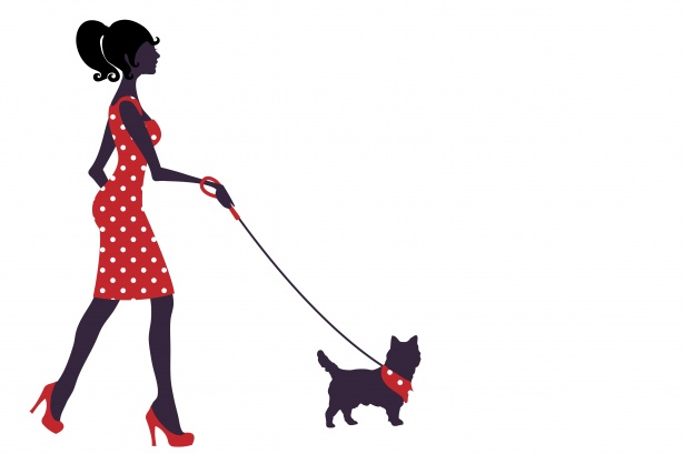 Woman Dog Clipart Illustration Free Stock Photo.