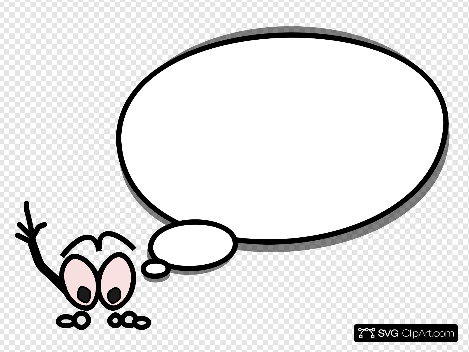Speech Bubble With Person Pointing Up On Left Clip art, Icon.