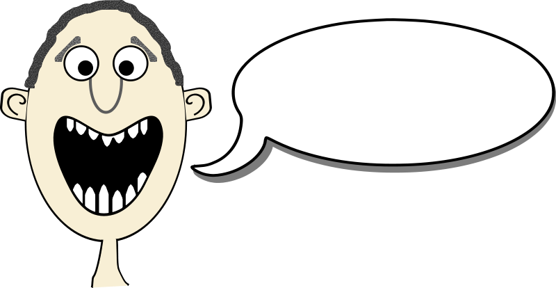 Free Person With Speech Bubble, Download Free Clip Art, Free.