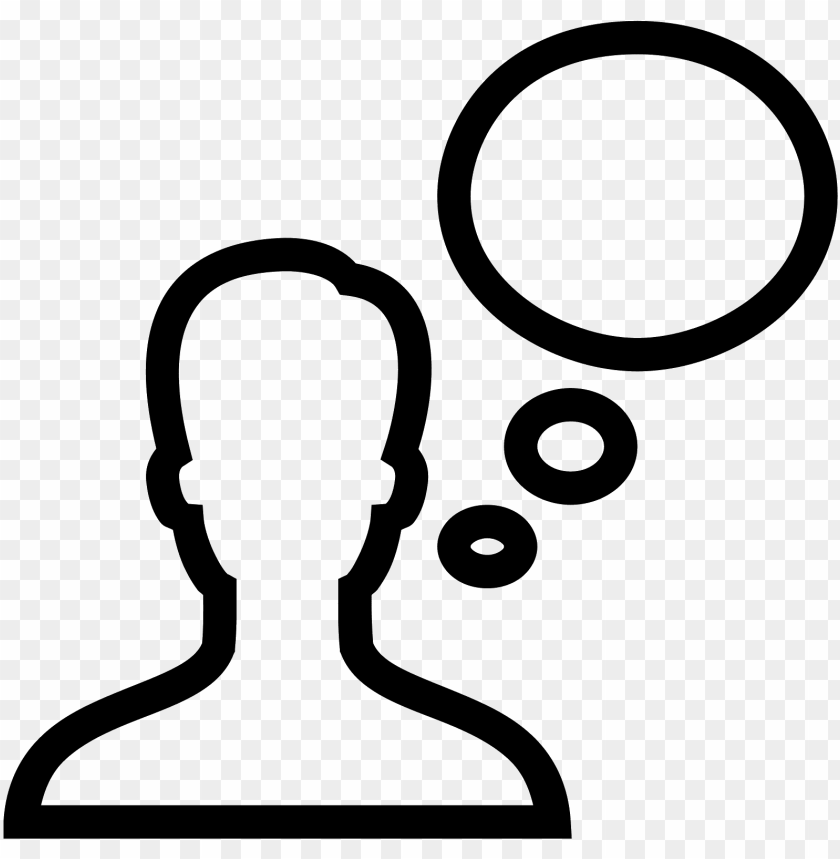 clipart person thought bubble.
