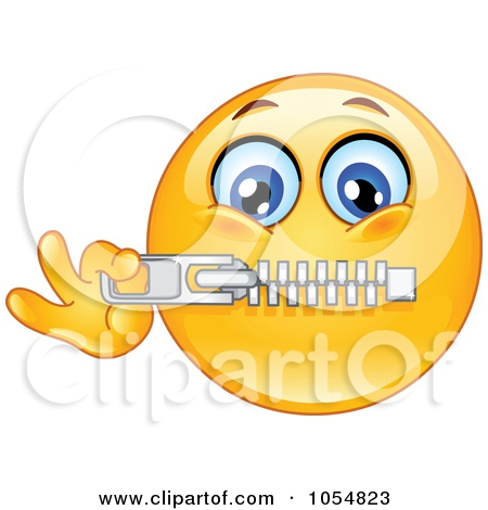 Zipped Mouth Clipart#2030585.