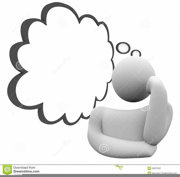 Person Wondering Clipart.