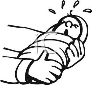 Person Wrapped In A Blanket Clipart.