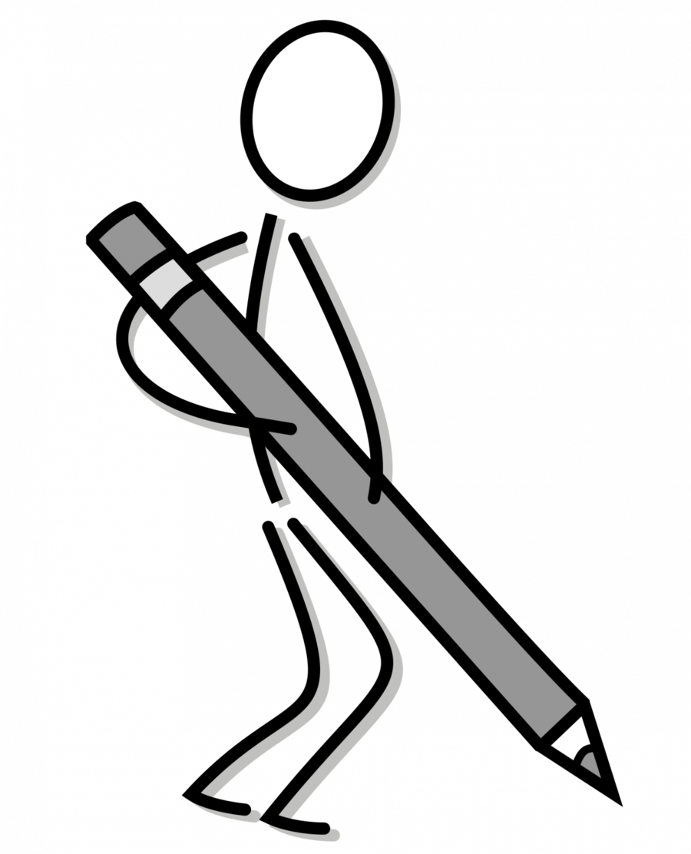 Download Stick Person Writing Transparent Clipart Stick.
