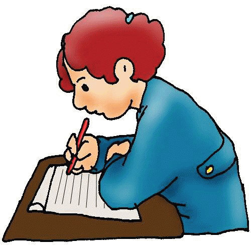 A Person Writing Clipart.