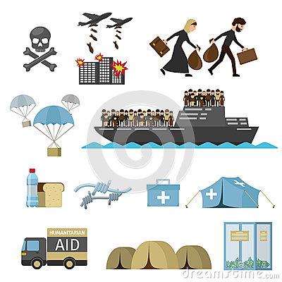 Resettlement Stock Illustrations.
