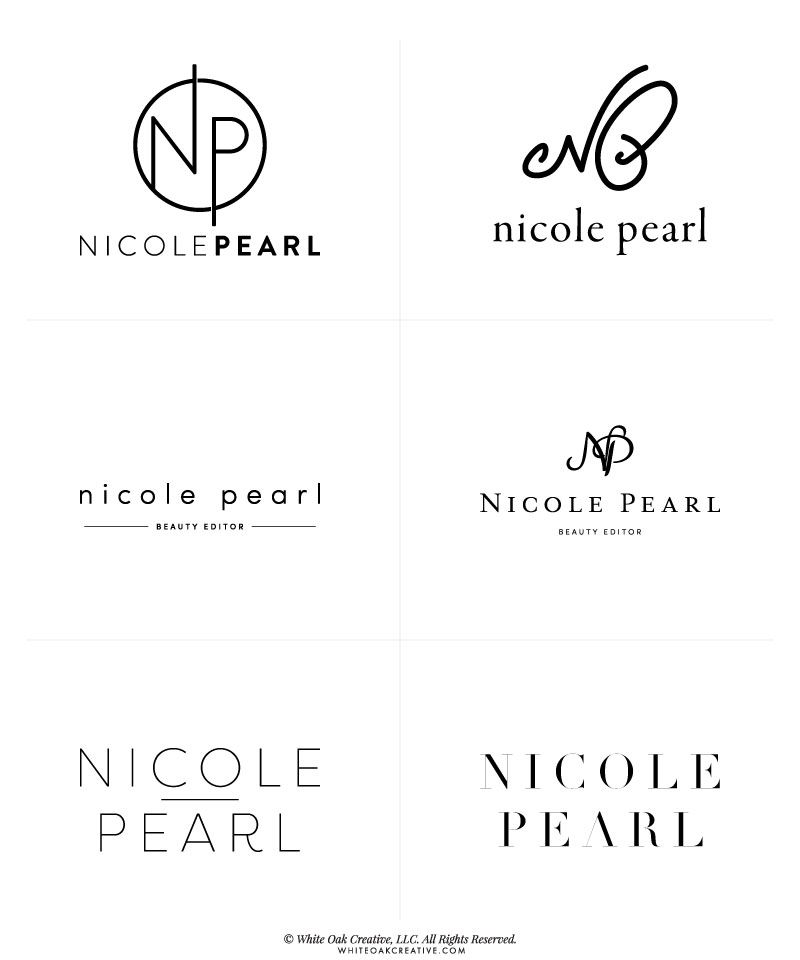 First round concepts for Nicole Pearl.