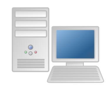First personal computer clipart.