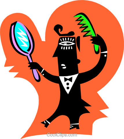 personal grooming Royalty Free Vector Clip Art illustration.