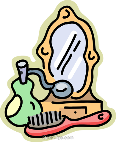 personal grooming items Royalty Free Vector Clip Art.