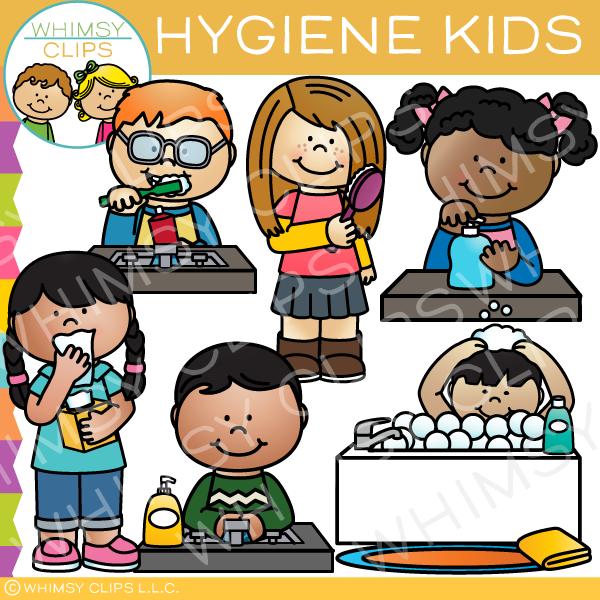 Hygiene Kids Clip Art.